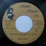 "45Re ✦ BUDDY HOLLY ✦ ""Baby Won't You Come Out Tonight / Come Back Baby"" Killer ♫"
